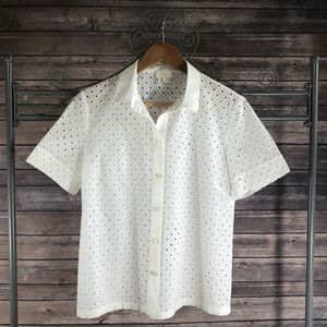 ♠️KATE SPADE♠️ Marissa Eyelet Shirt- 6